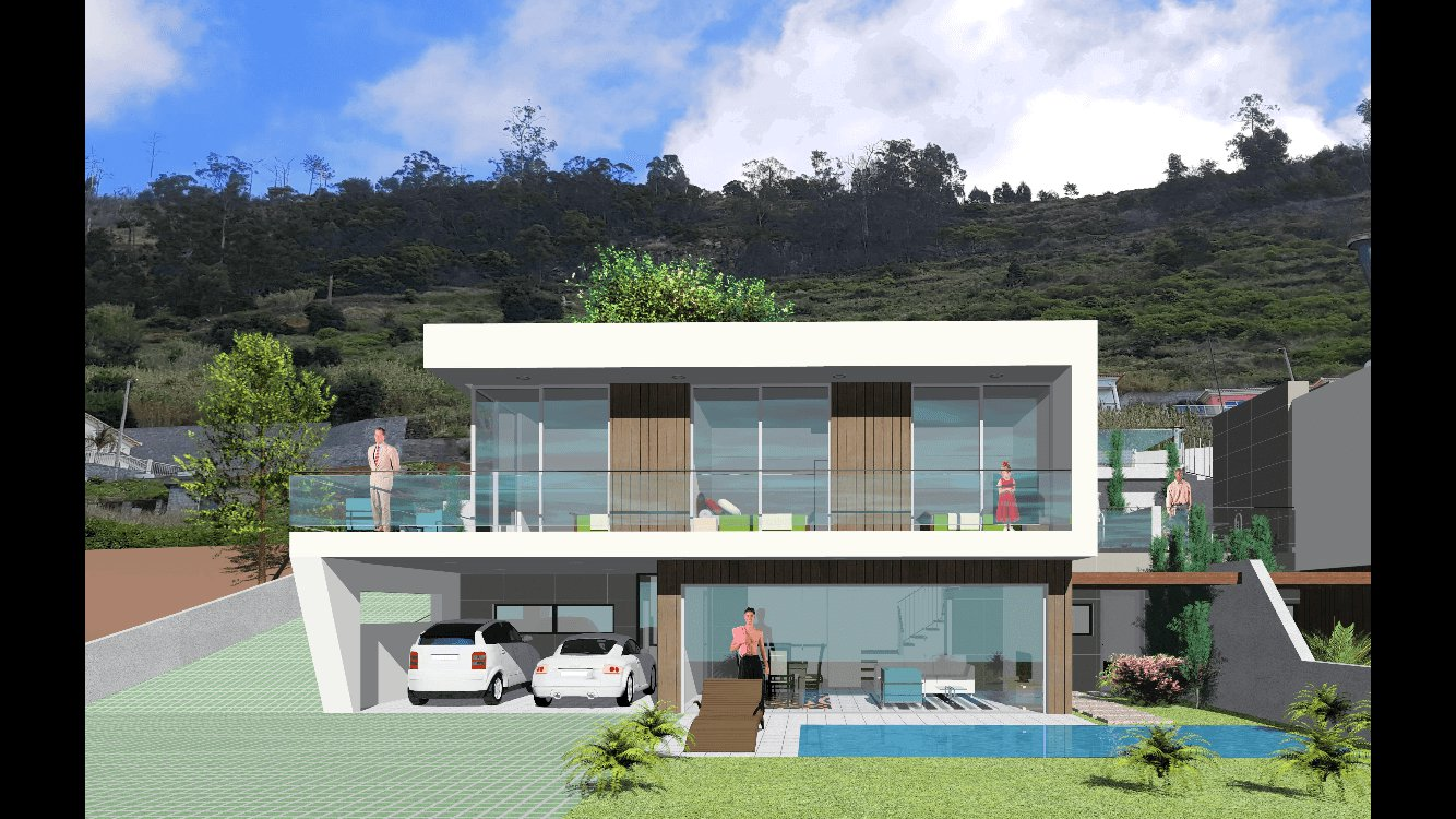 Fantastica casa moderna t3 nova semi geminada de 170 m2 for Casa moderna 140 m2