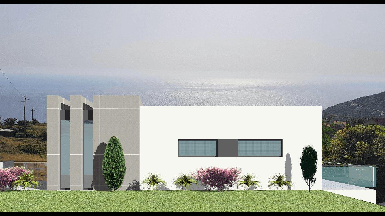 Fantastica Casa Moderna T3 Nova Semi-Geminada de 170 m2 com Piscina e 350 m2 de Terreno. Vista Superba para o Mar. Calheta. Casa in Arco de Calheta, Calheta EUR 450