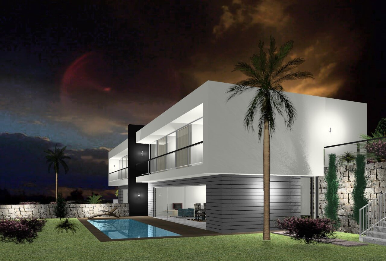 Modern T3 New House Semi-Detached of 170 m2, on 310 m2 of Land with Swimming Pool, Calheta