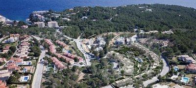 Unika hem vid Medelhavet i Cala Vinyes