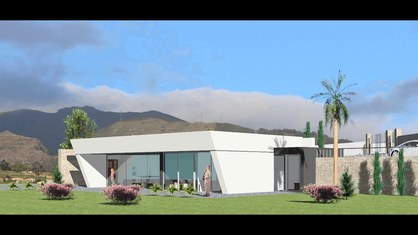 Modern T3 New House of 150 m2, on 2.000 m2 of Land , Canhas – Ponta do Sol