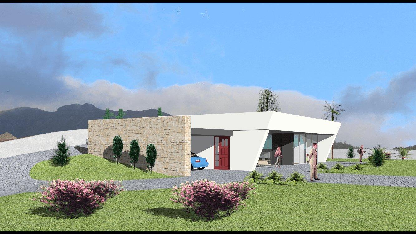 Maison Moderne T3 Neuve de 150 m2 sur 2.000 m2 de Terrain avec Vue Océan. Canhas – Ponta do Sol