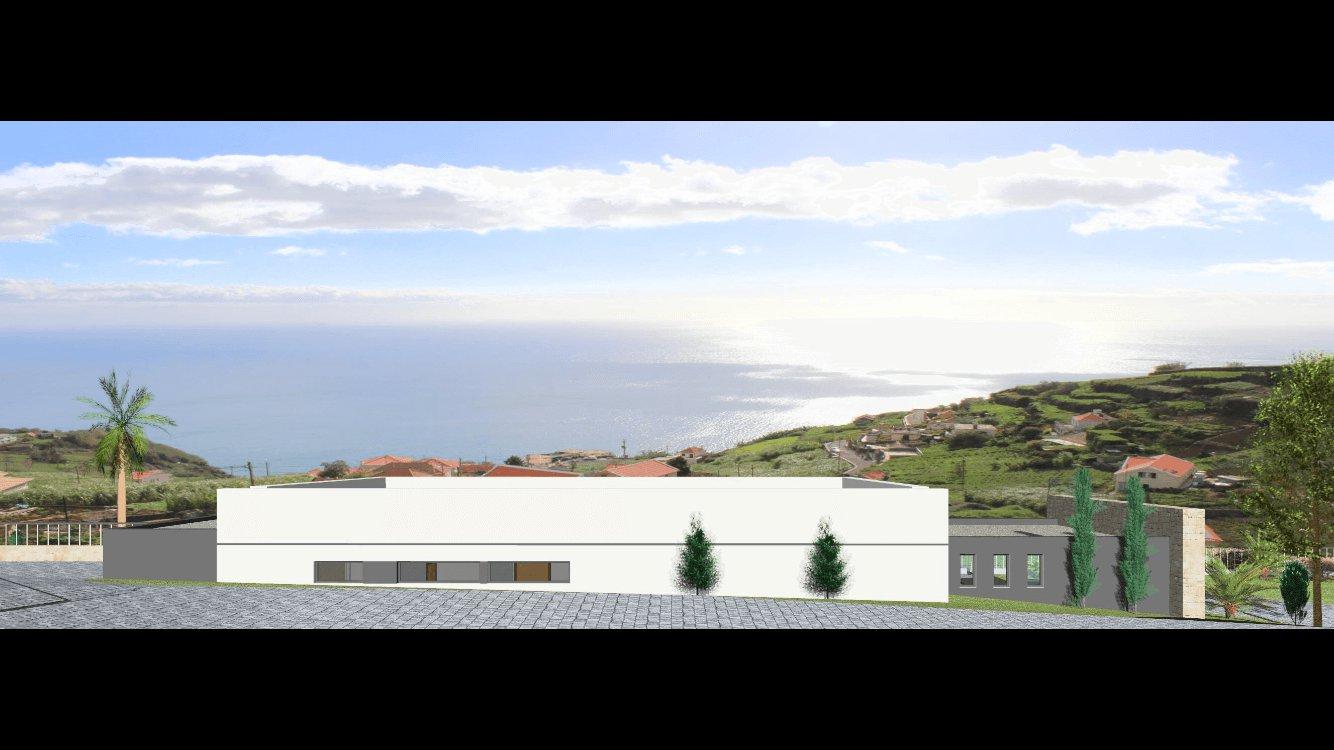 Casa Moderna T3 Nova de 150 m2 com 2.000 m2 de Terreno, Vista Mar. Canhas – Ponta do Sol
