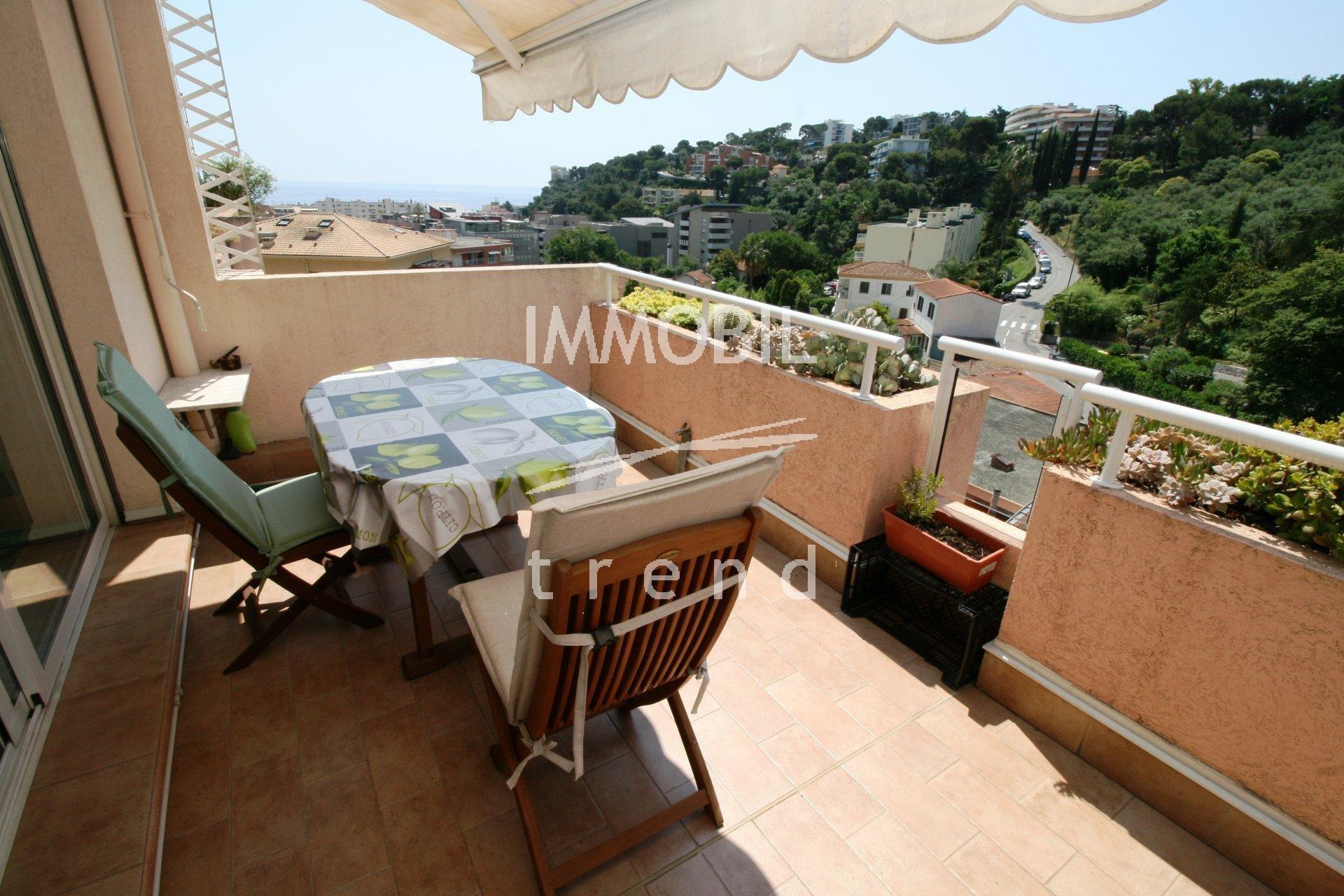 Immobilier Roquebrune Cap Martin 2 pieces avec vue mer