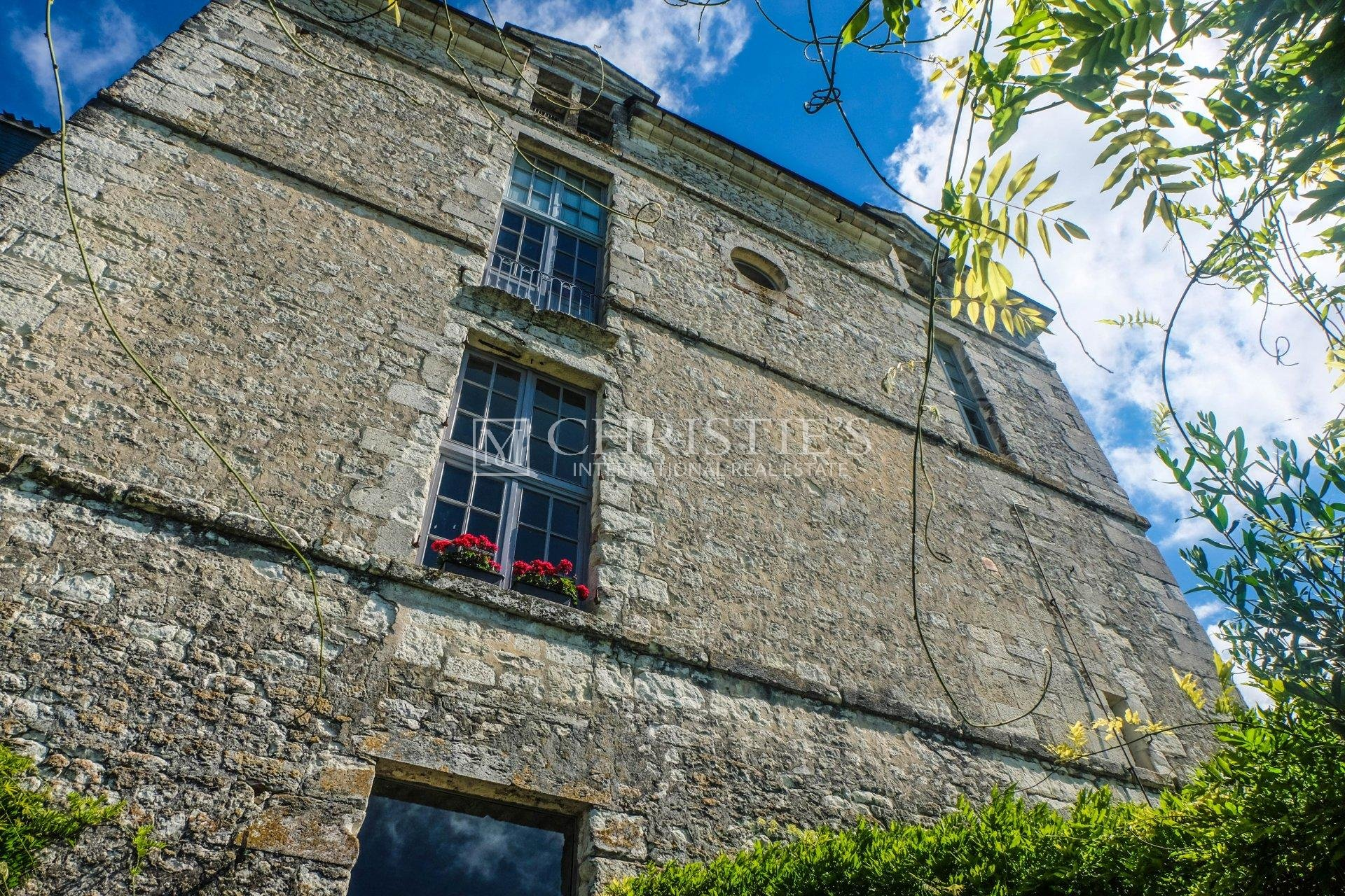 CHATEAU on edge of village with superb views