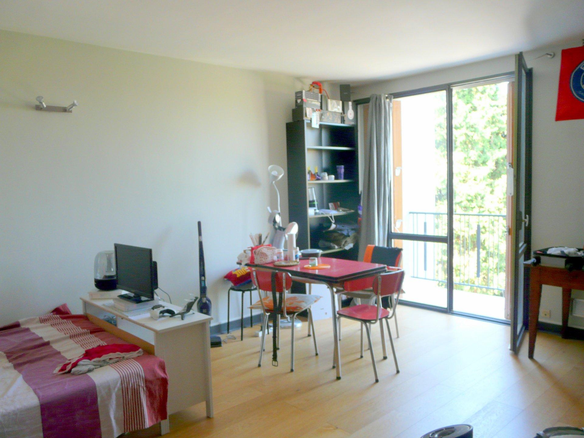 T1 33m² meublé avec parking et balcon