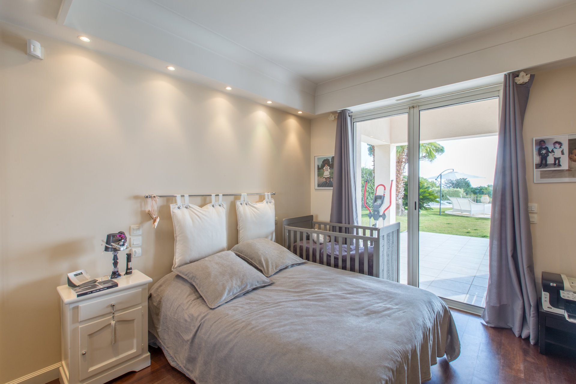 In a secure domain,  villa, luxuriously renovated with pool