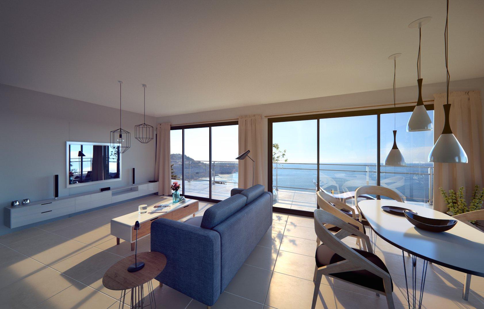ROQUEBRUNE CAP MARTIN/CABBÉ: 1-BEDROOM APARTMENT, SEA VIEW WITH GARDEN