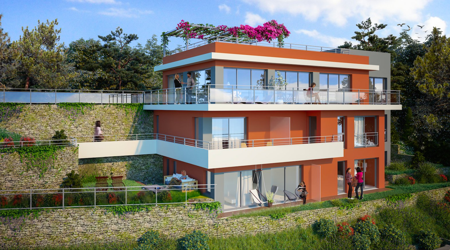 ROQUEBRUNE/CABBÉ:  3-BEDROOM APARTMENT WITH SEA VIEW AND GARDEN