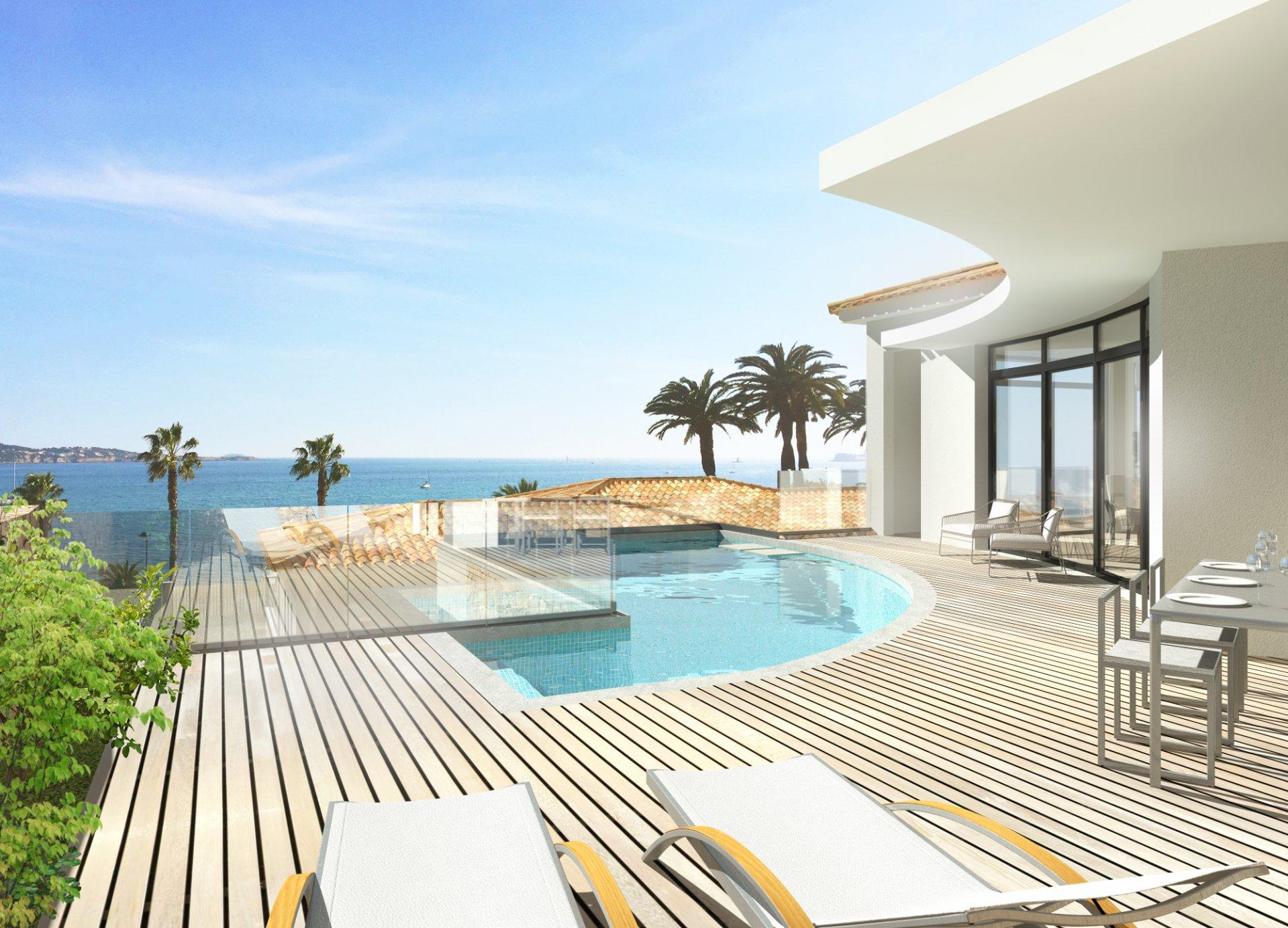 Bandol villas de luxe front de mer for Villa luxe mer