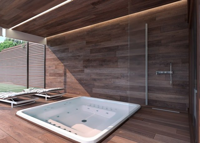 Nouvelle villa individuelle moderne en construction