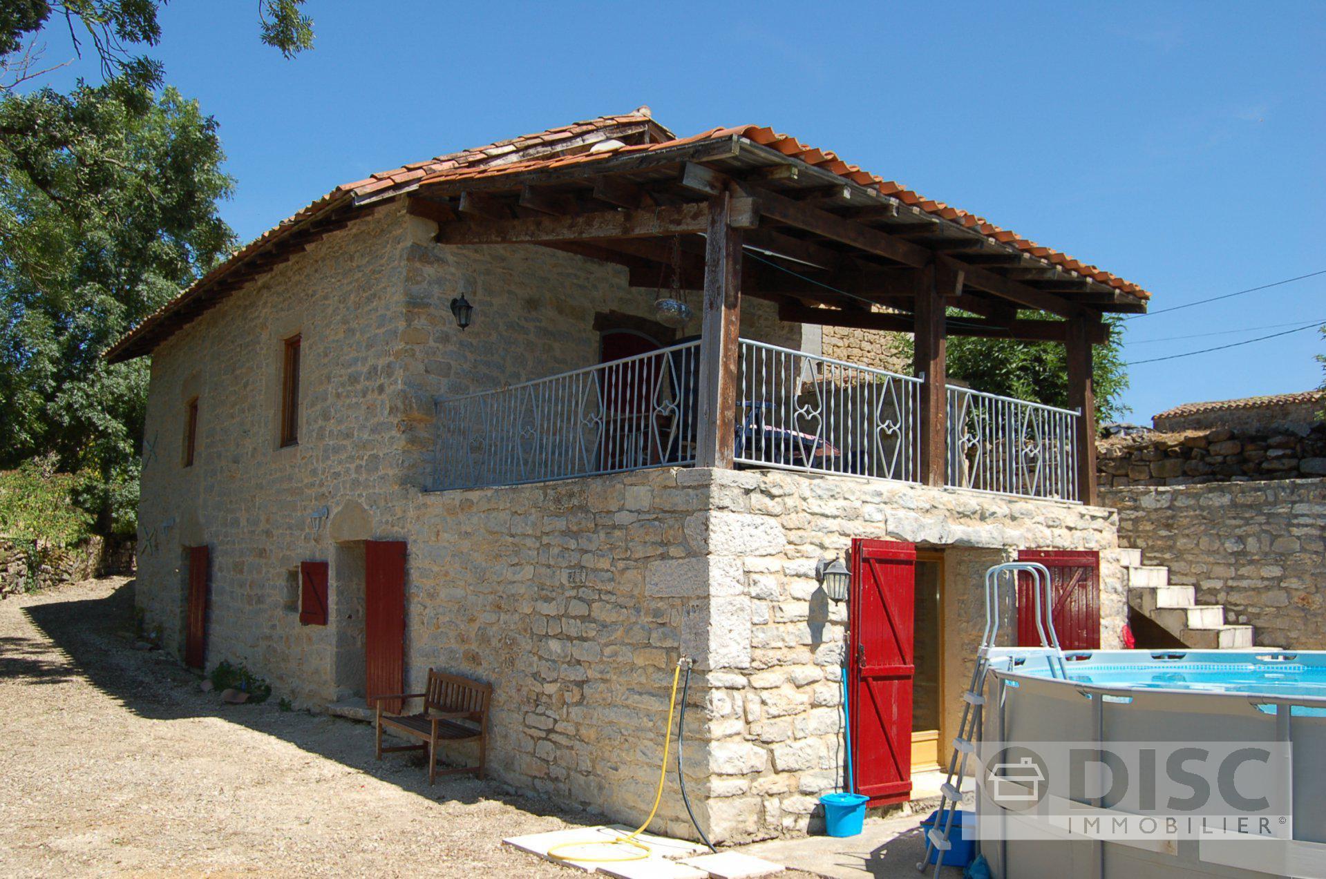 Stone-built farmhouse with fine views