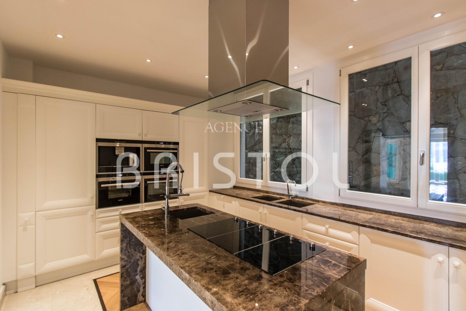 Kitchen island, stainless steel