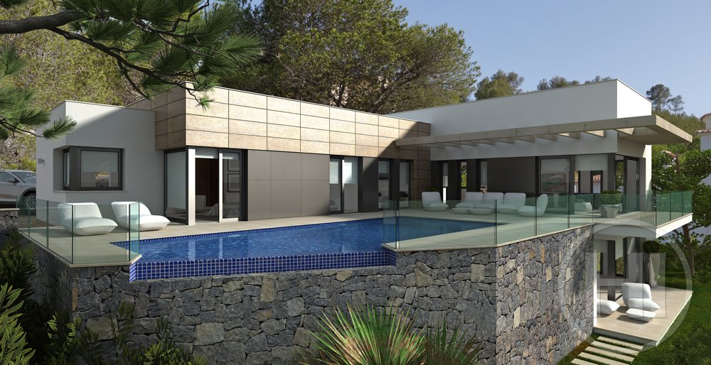 New build villa with panoramic views in Javea