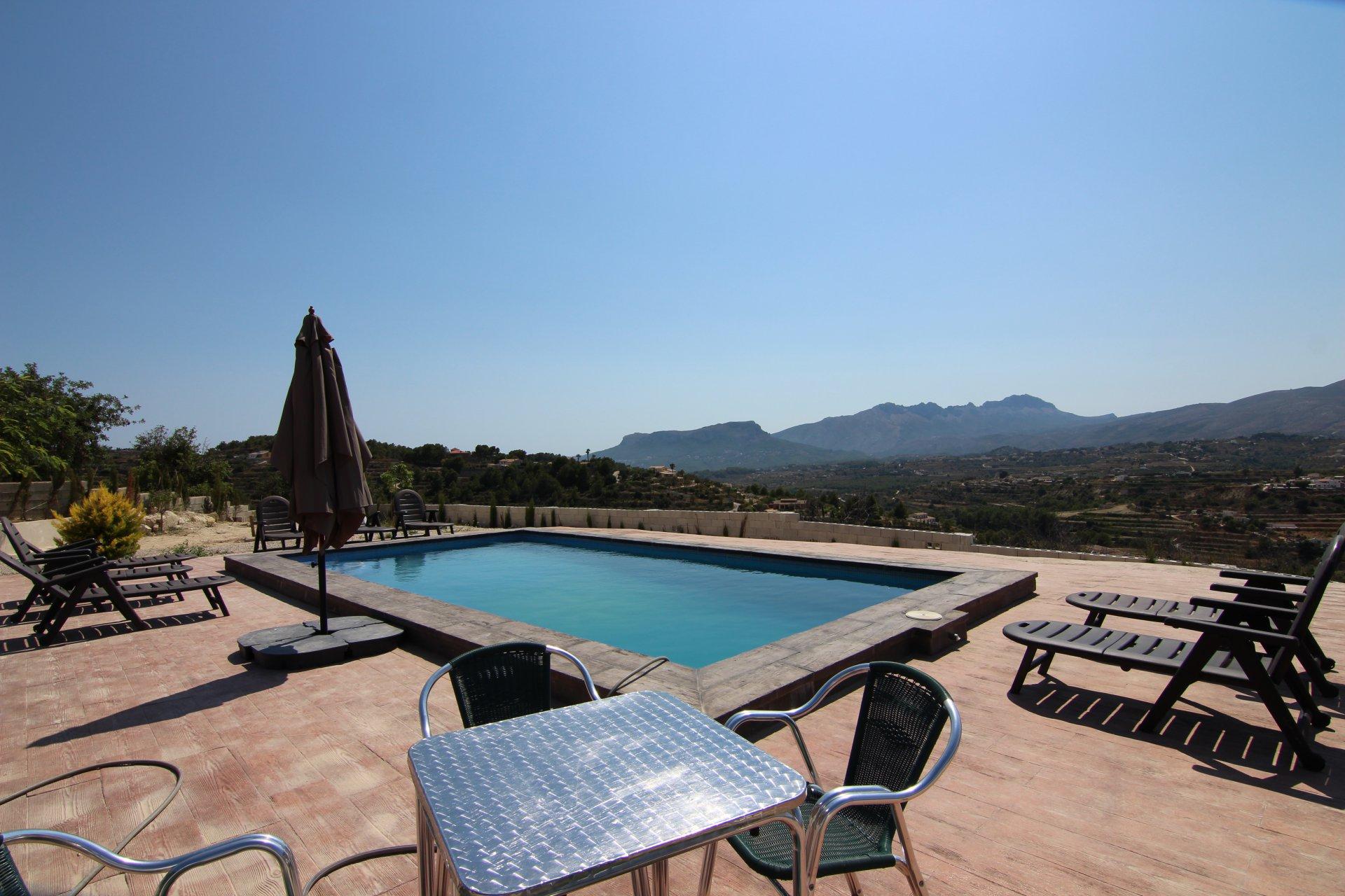 Finca 4 chambres avec des vues spectaculaires sur la campagne et la montagne