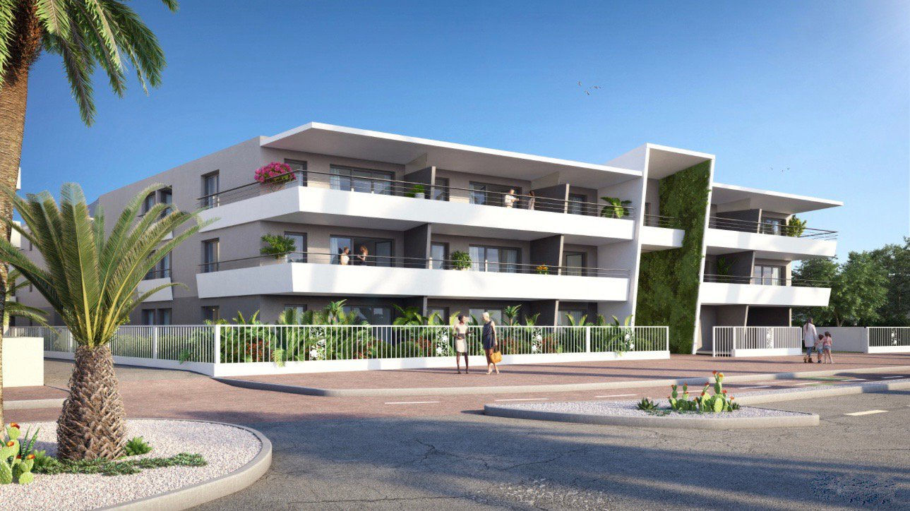 VILLENEUVE LOUBET Plage - French Riviera - Exceptional 2 bed apartment with sea view