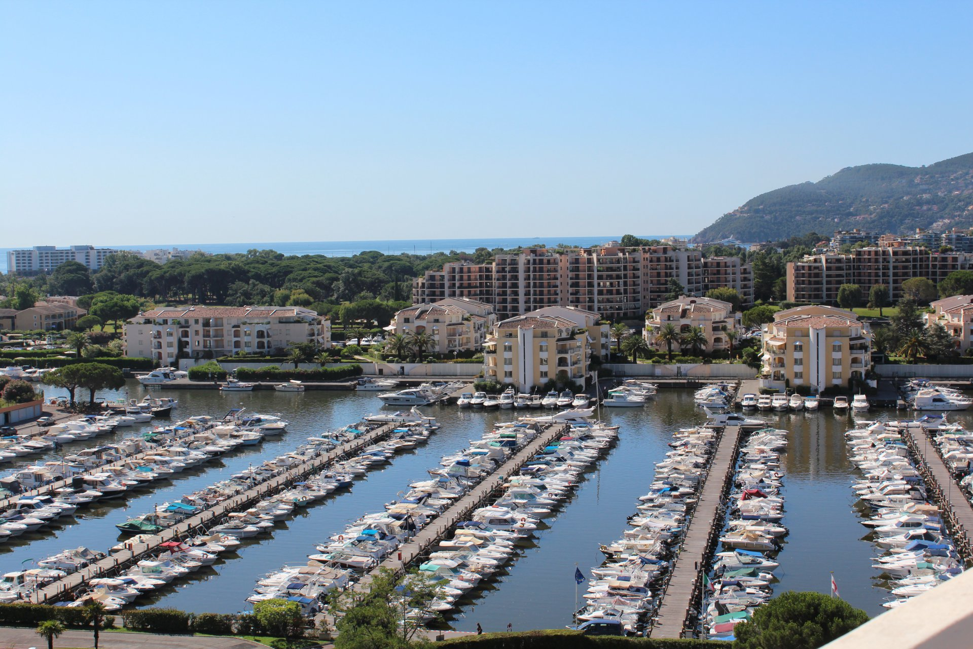 French Riviera Mandelieu Port Top floor sea view