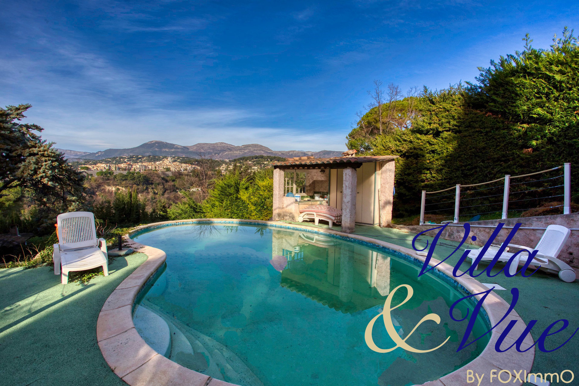 Saint Paul de Vence; Ston e Bastide with swimming pool