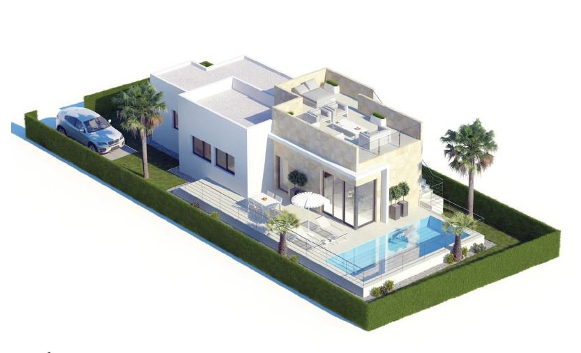 Modern new build on one floor with sea view