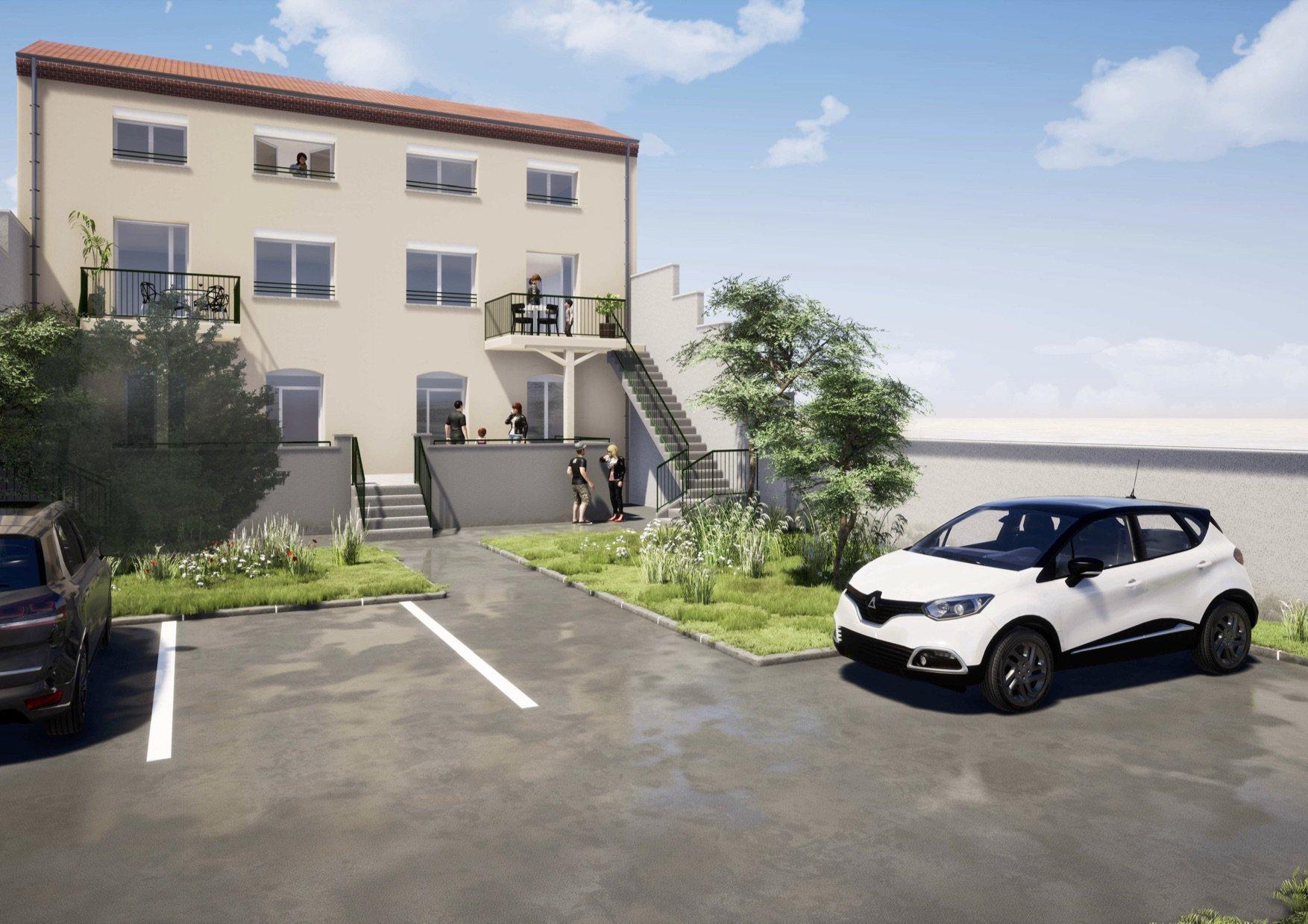 Appt T4 Duplex Terrasse, cave, 2 parkings