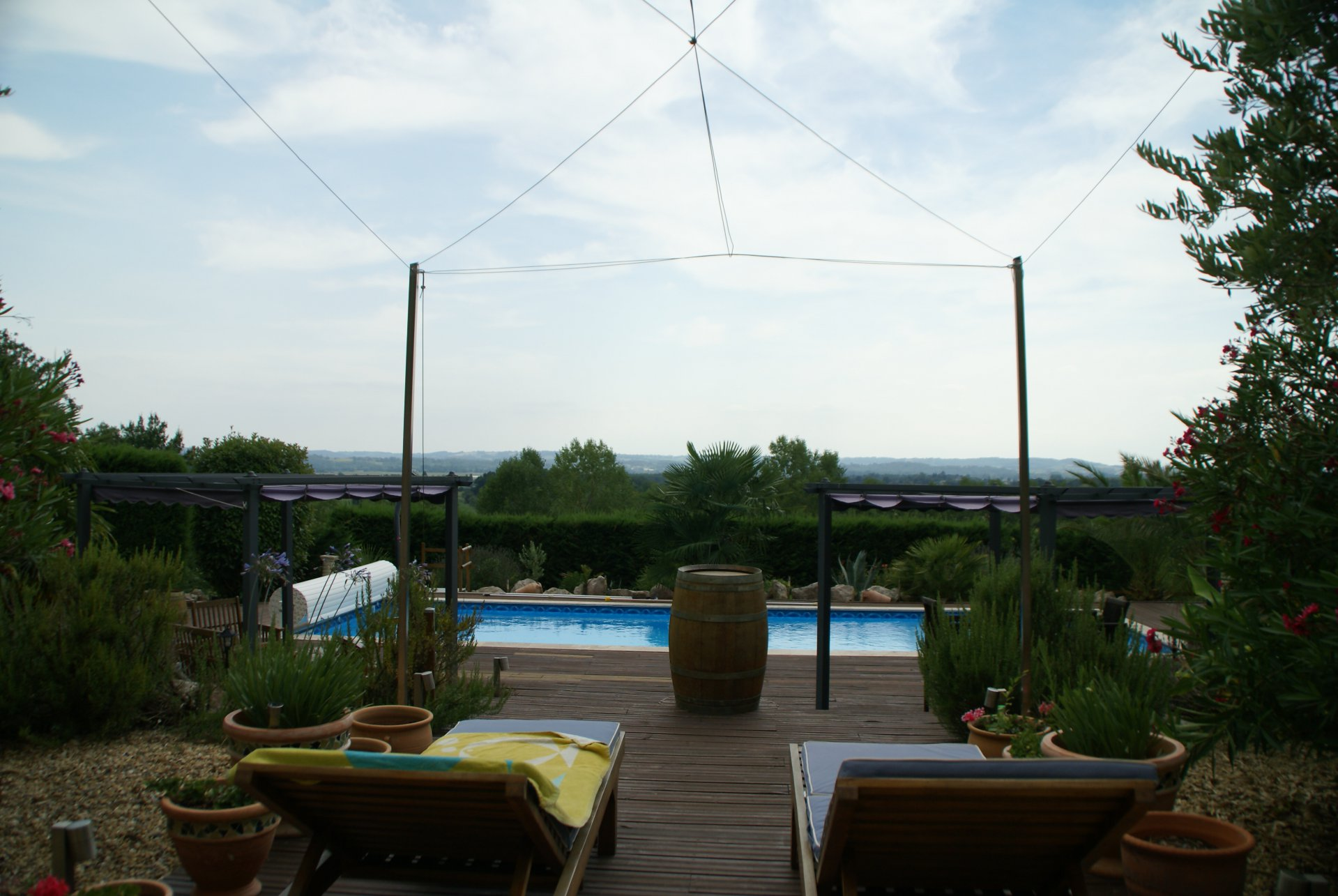 Lovely property with pool, 2 gites and impressive view.