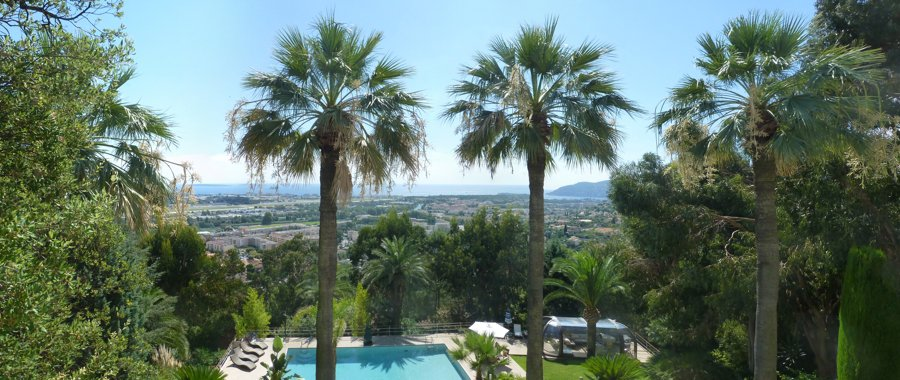 On the French Riviera, in Mandelieu-la-Napoule, stunning sea views