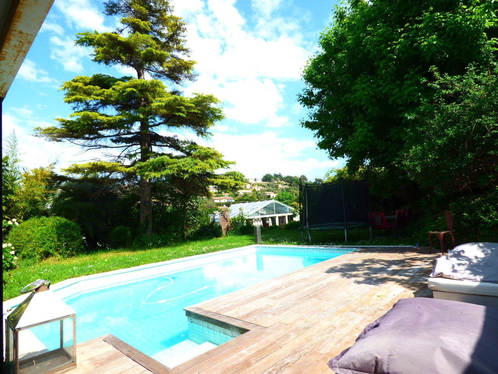 House view Baou St Jeannet, large garden, pool, pool house and terrace