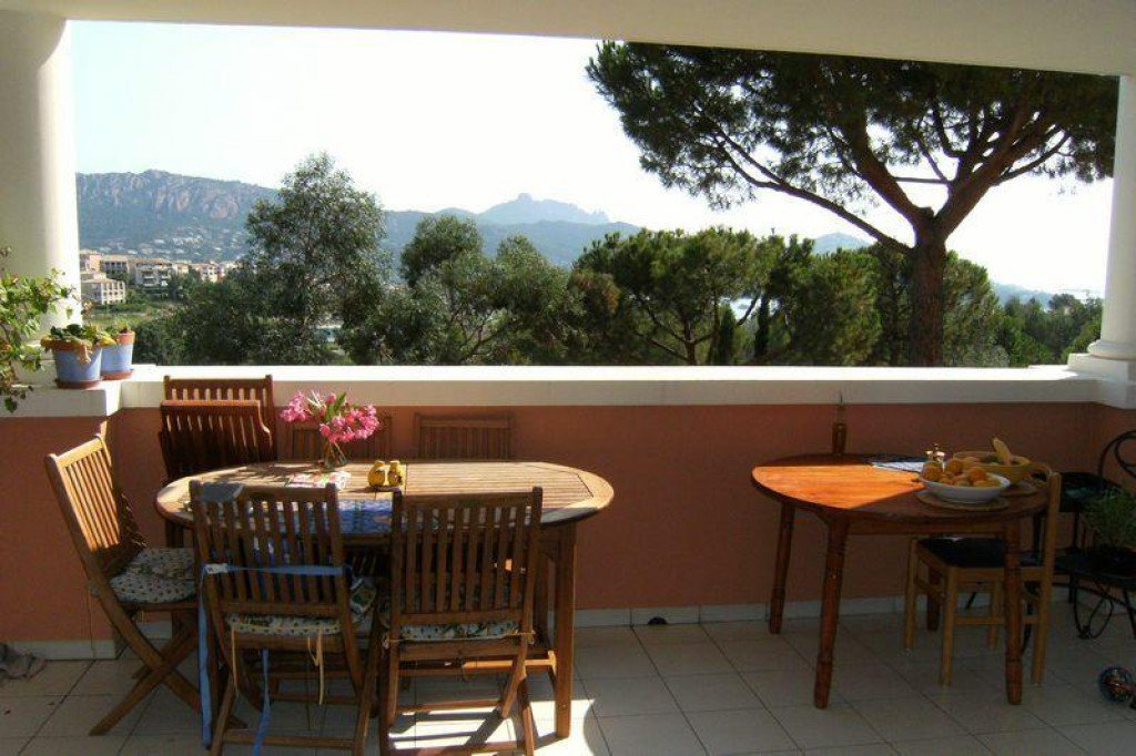 La terrasse de l'appartement de Cap Estérel