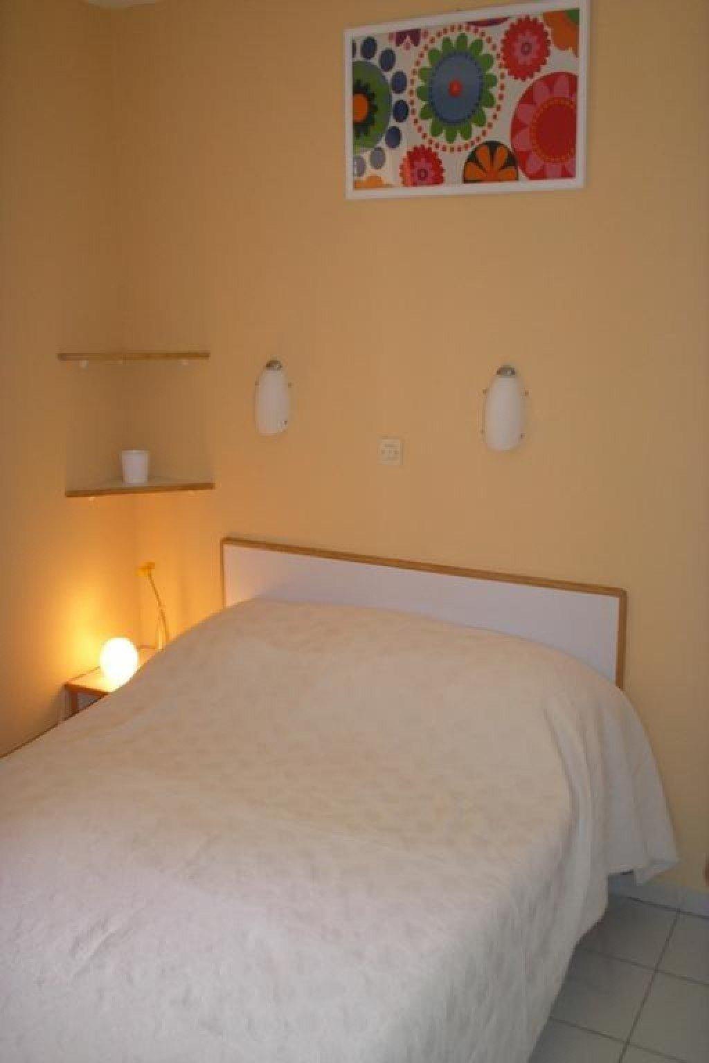 The bedroom in Cap Esterel's apartment