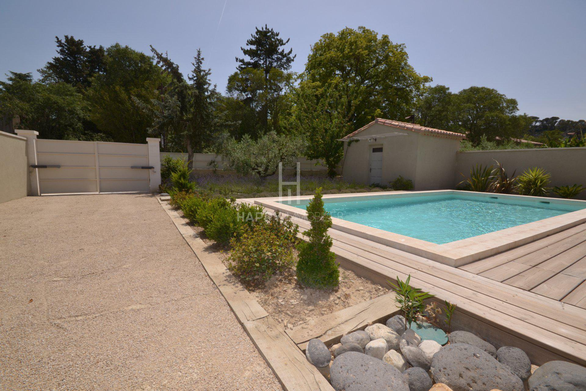 A restored village house with pool in St. Etienne du Grès