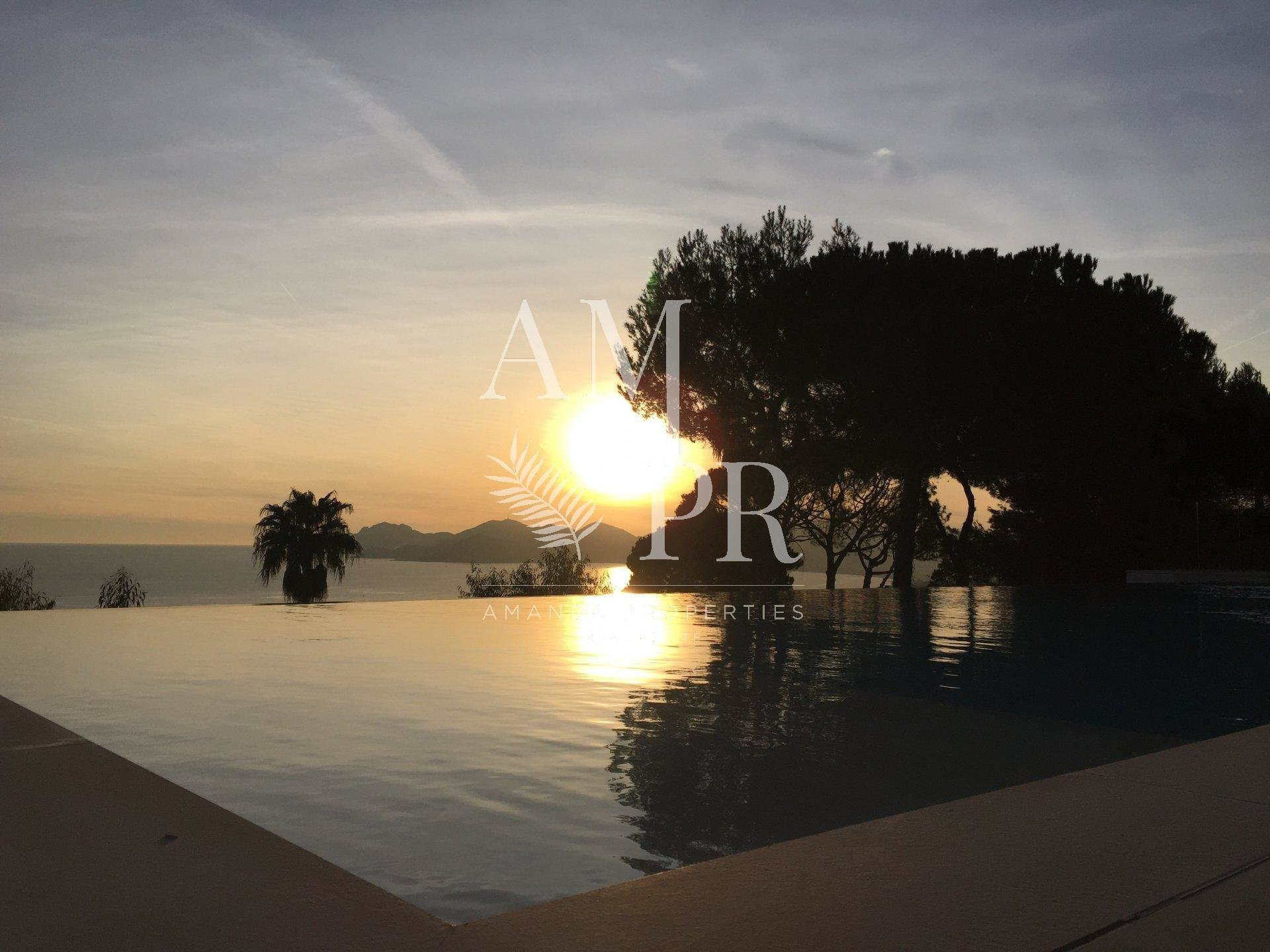 Beautiful modern villa panoramic sea view 5 bedrooms - 1 guest house seasonal rental