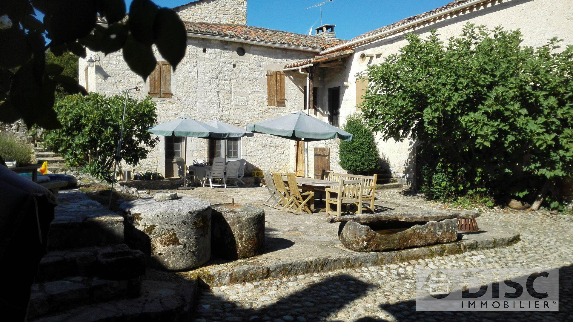 Renovated stone farmhouse with pool and large garden.