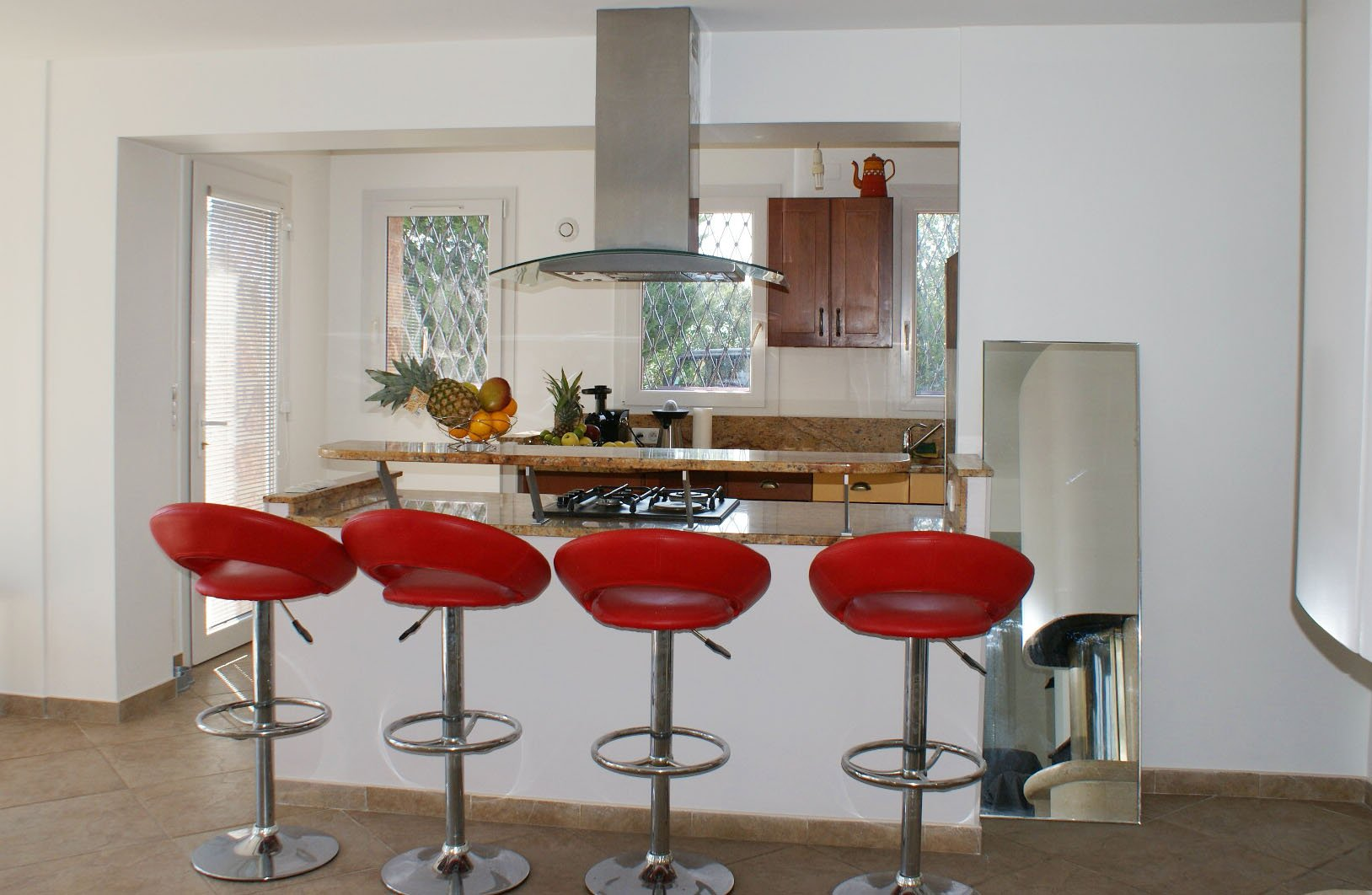 Kitchen bar, stainless steel