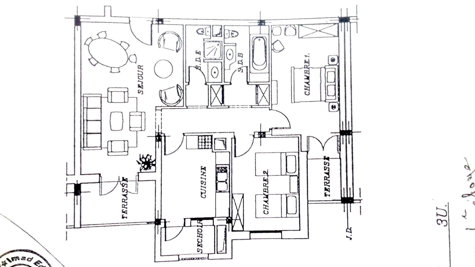 Joli appartement  S+2 à vendre à slim centre