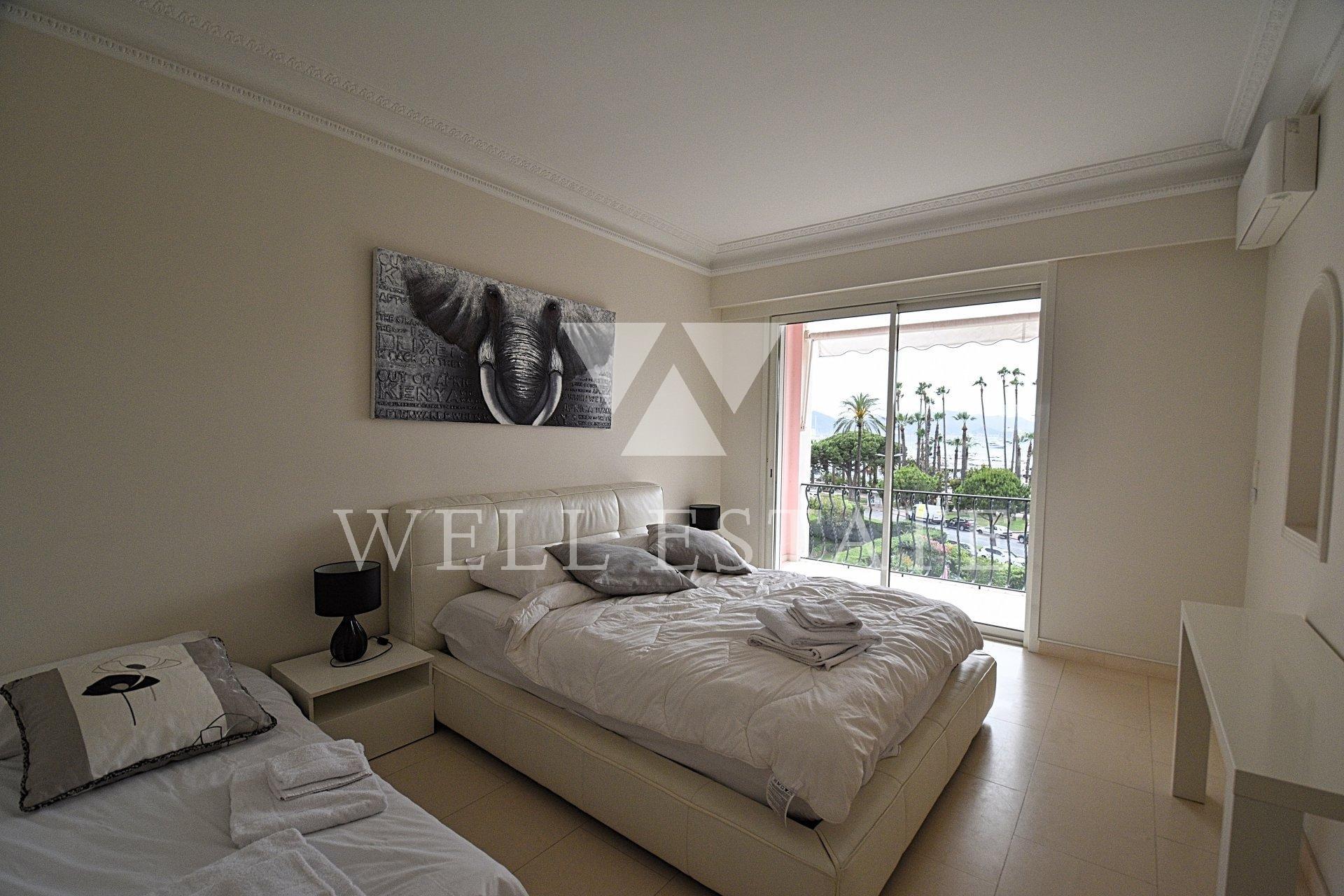 Appartement 110 metres face à la mer sur le célèbre boulevard de la Croisette