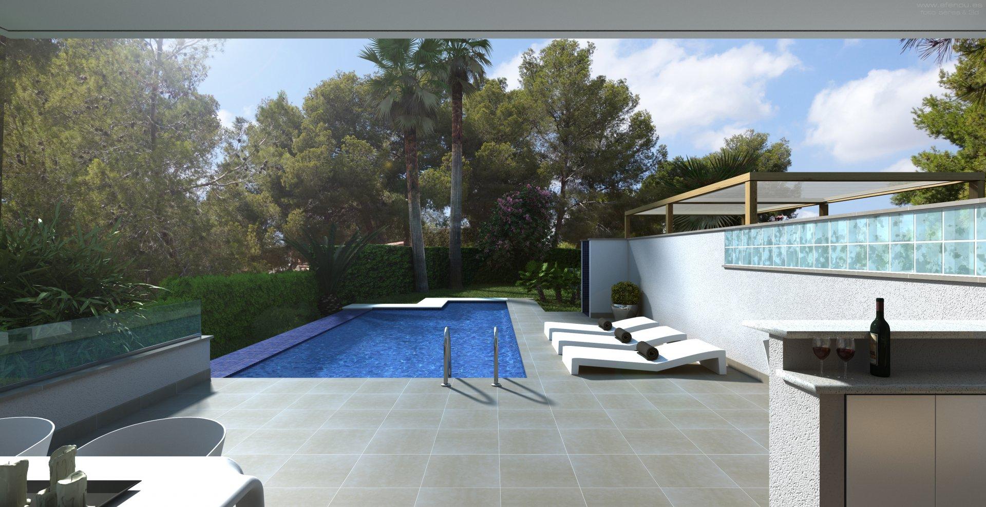 Recently build villa close to playa La Fustera