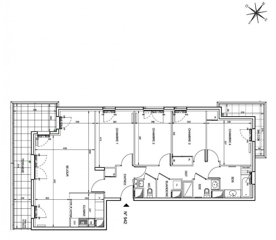 Rueil Malmaison , dernier étage avec terrasse