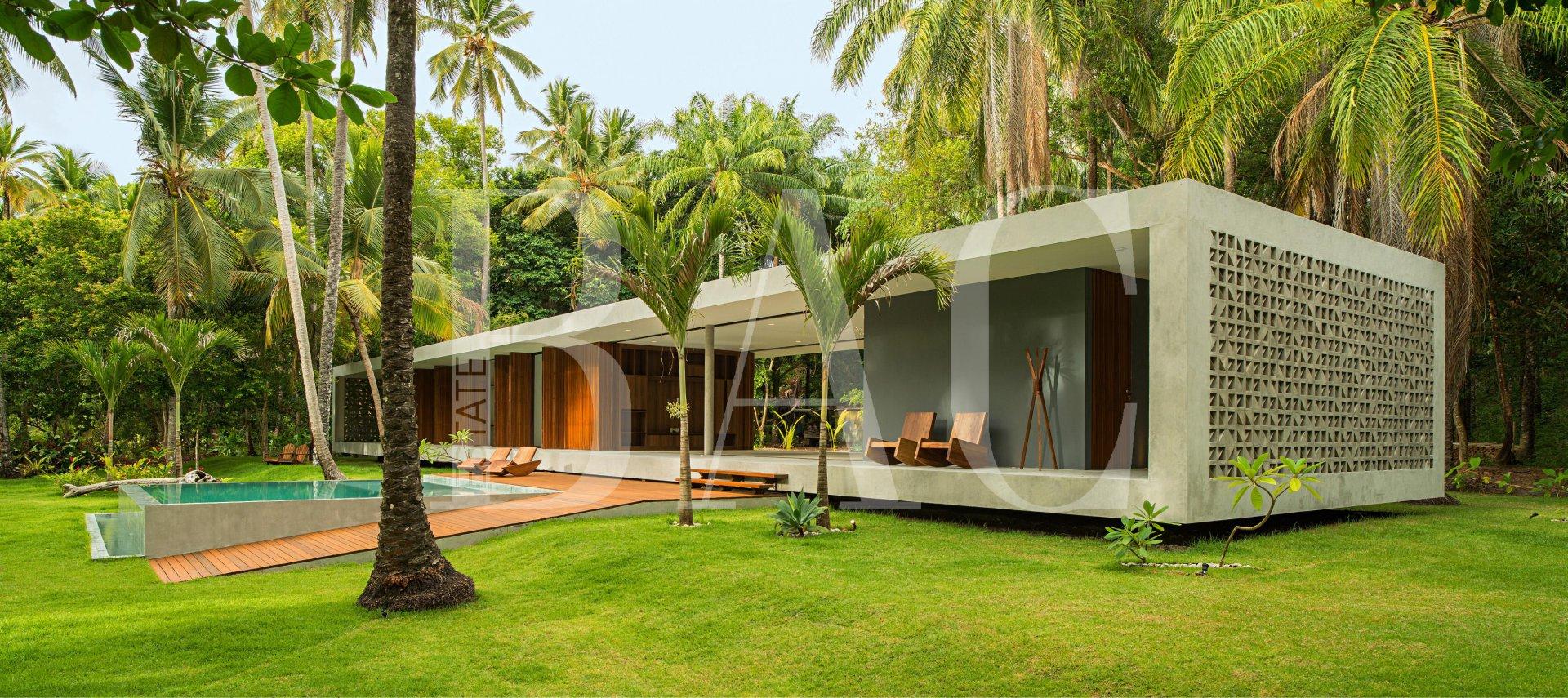 Villa moderne sur l'ile de  boipeba au Brésil