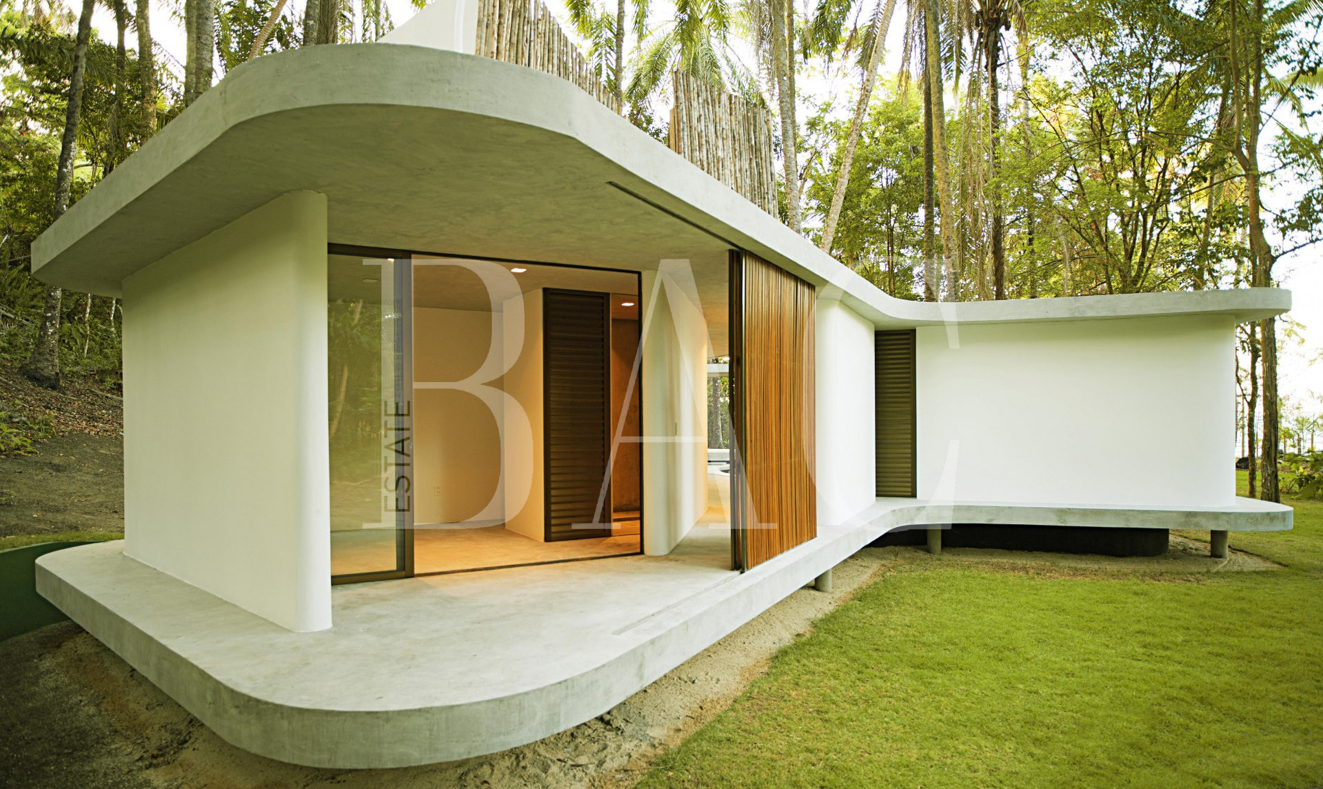 A modern house on Boipeba island in Brazil