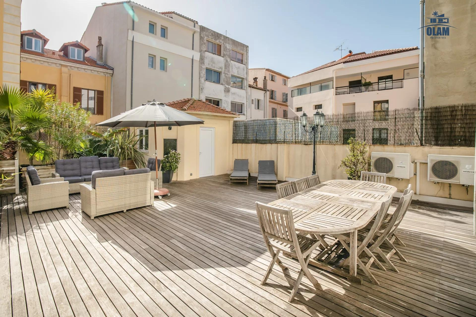3-br in the heart of Cannes, amazing terrace