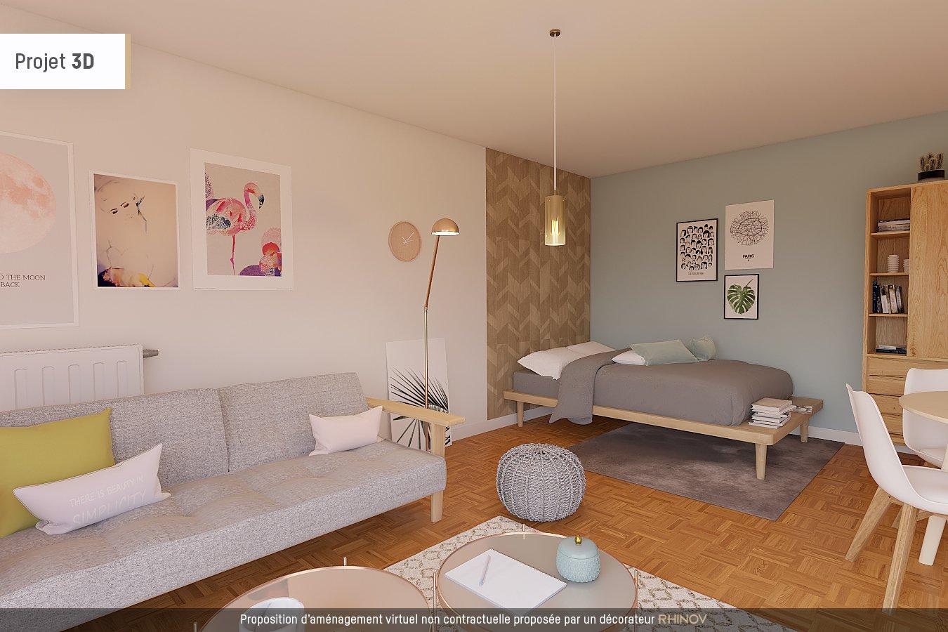 Studio avec terrasse de 22m2