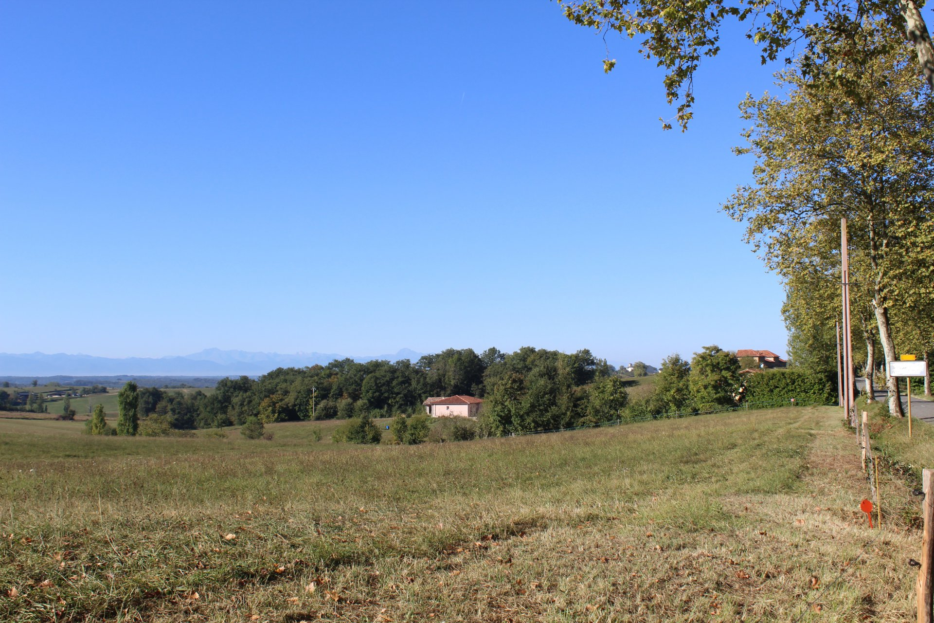Close to Ciadoux, ground of 7386 m ² to build with view Pyrenees