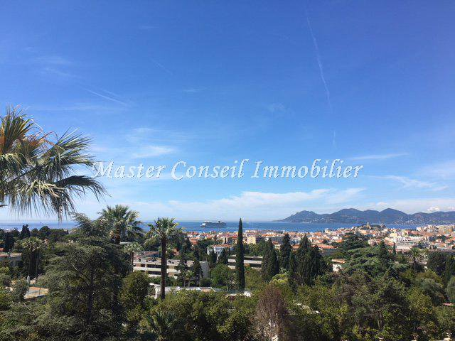 CANNES VENTE  APPARTEMENT 4P 128M² + 34M² Terrasses VUE MER PANORAMIQUE
