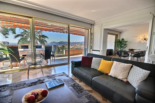CANNES  - VENTE  APPARTEMENT 4P 128M² + 34M² Terrasses VUE MER PANORAMIQUE
