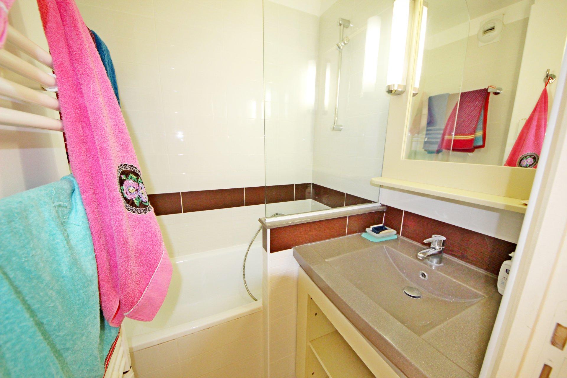 The bathroom in Cap Estérel's apartment