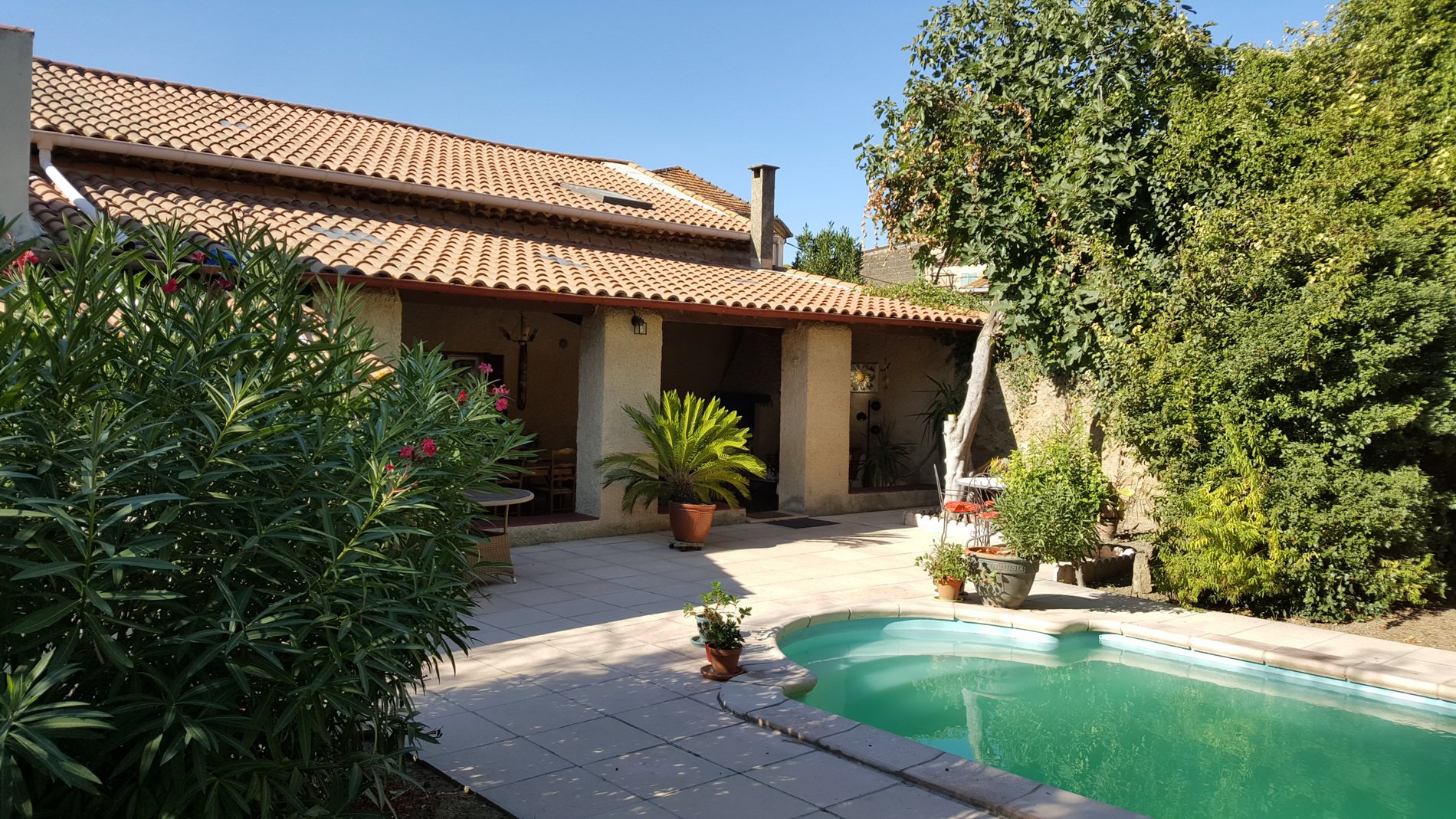Lovely village house with garden and pool