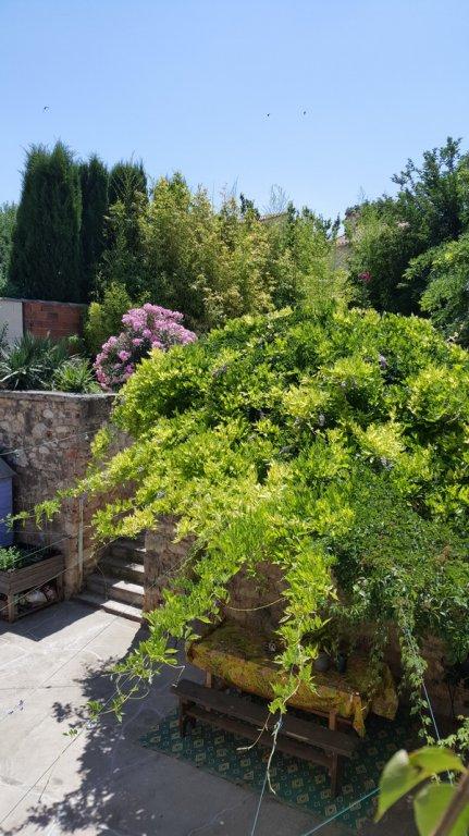 Charmigt vinbondehus med garage, terrass och trädgård
