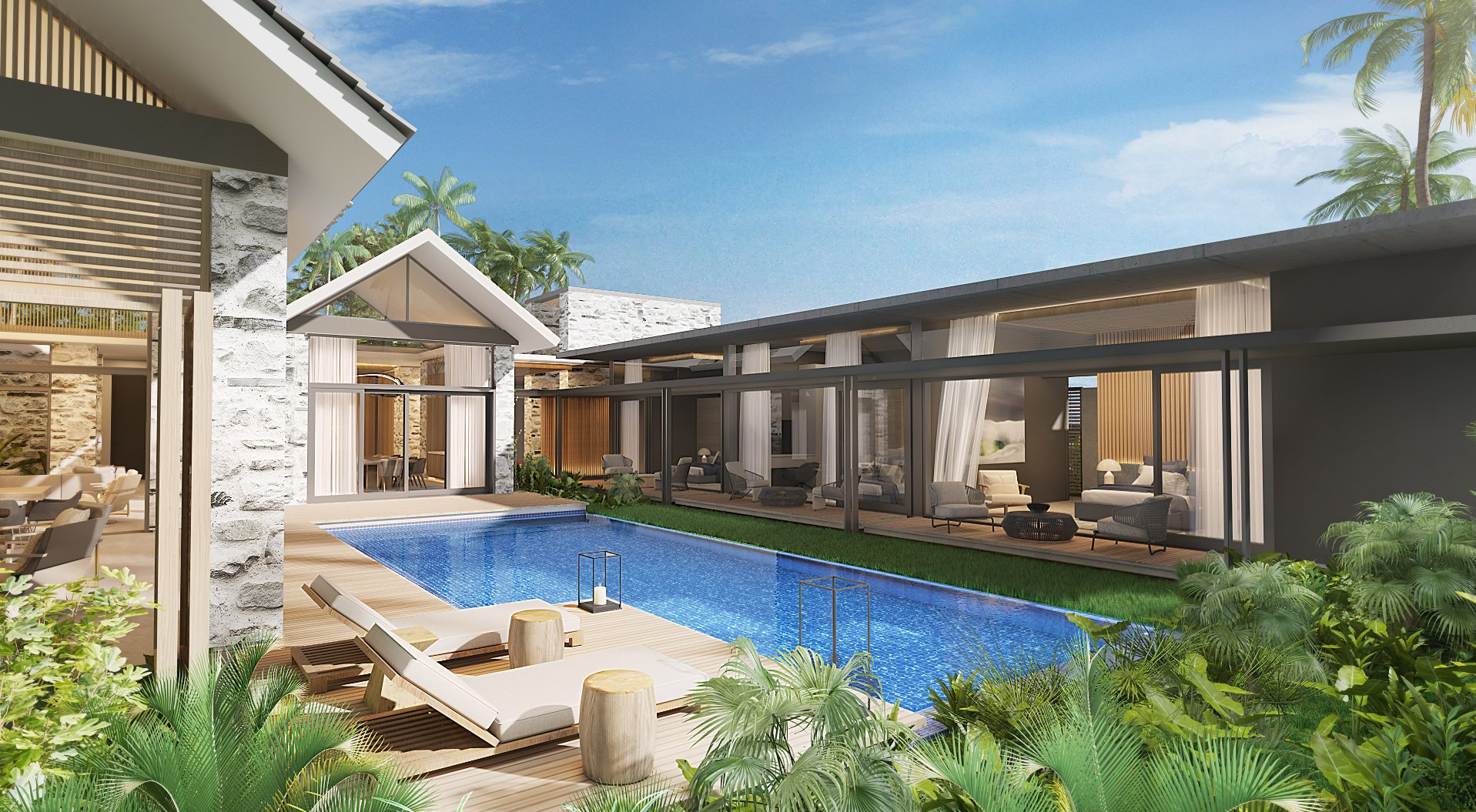 Luxurious and spacious villas by a world renowed architect