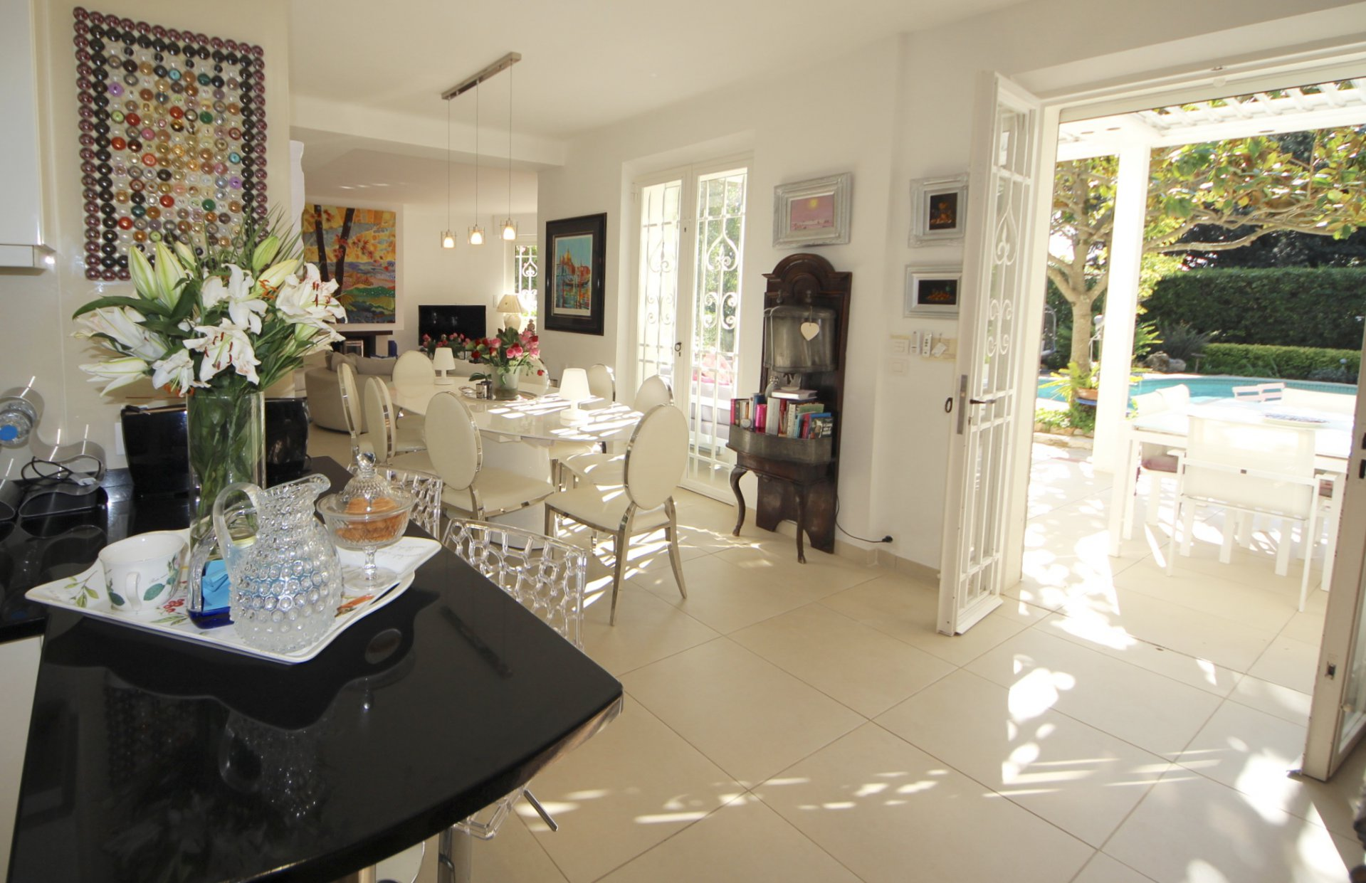 Cannes Montfleury, superb renovated provencal villa in absolute calm