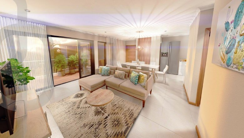 Beautiful apartment on the ground floor of a residence in Mauritius